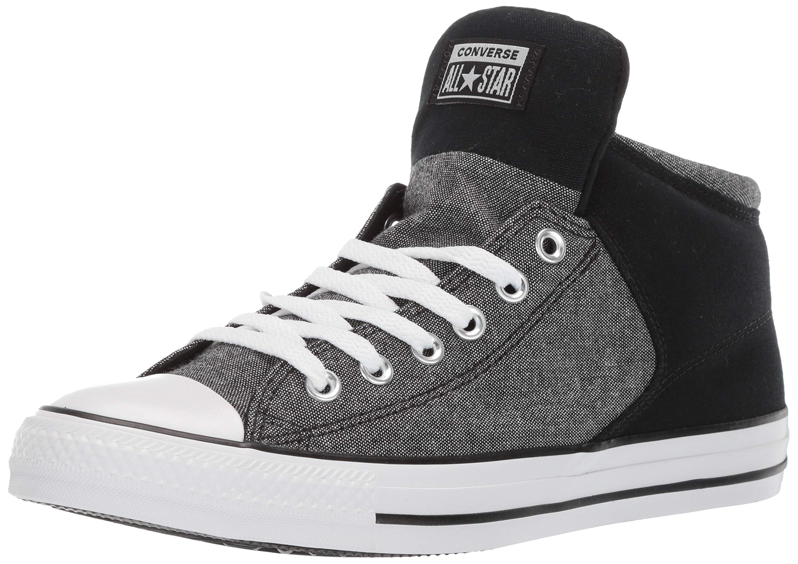 Converse Men's Unisex Chuck Taylor All Star Street High Top Sneaker WhiteBlackEnamel Red 12 M US