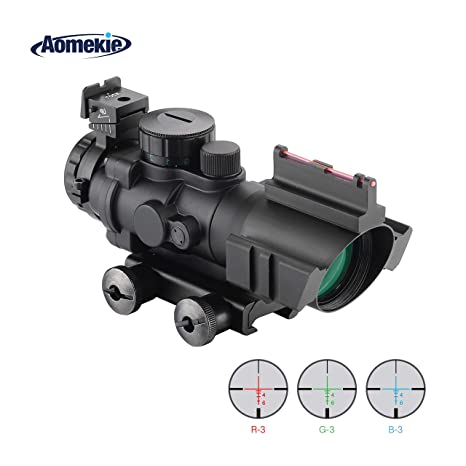 Riflescope Gun Scope Sight Optics Hunting Shooting 20mm Rail Mount Waterproof