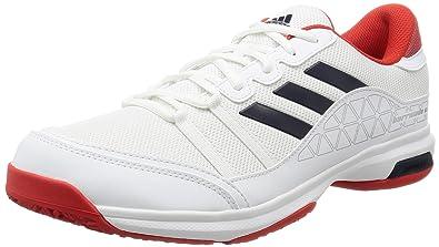 b9bb42c9ebb408 Adidas Men's Barricade Court Oc Ftwwht/Conavy/Corred Tennis Shoes- 6 UK/