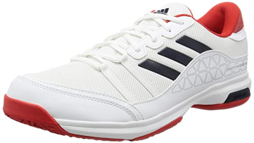 aa03b7f584ef36 Adidas Men s Barricade Court Oc Ftwwht Conavy Corred Tennis Shoes- 6 ...