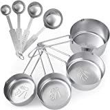 Tribal Cooking Metal Measuring Cups and Spoons Set - Professional Stainless Steel Multi - Piece Cup and Spoon Set - Measure D
