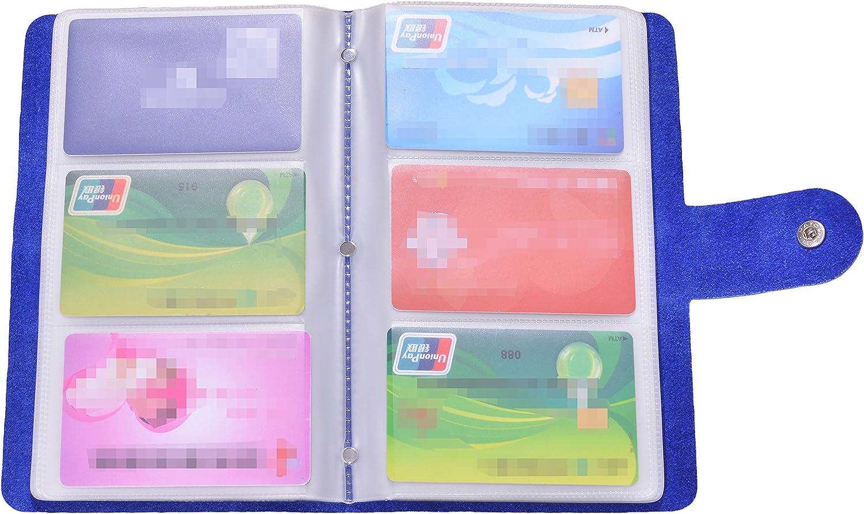 Easyoulife Genuine Leather Credit/Business Card Holder Case Wallet 90 Card Slots