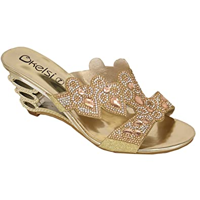12d852e8b5d5 Ladies  Kelsi Sandals DL40 Gold UK 5 EU 38  Amazon.co.uk  Shoes   Bags
