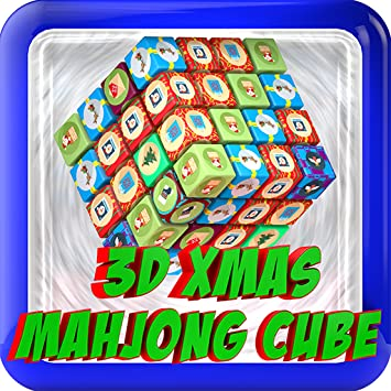 Mahjong Christmas.3d Christmas Mahjong Cube