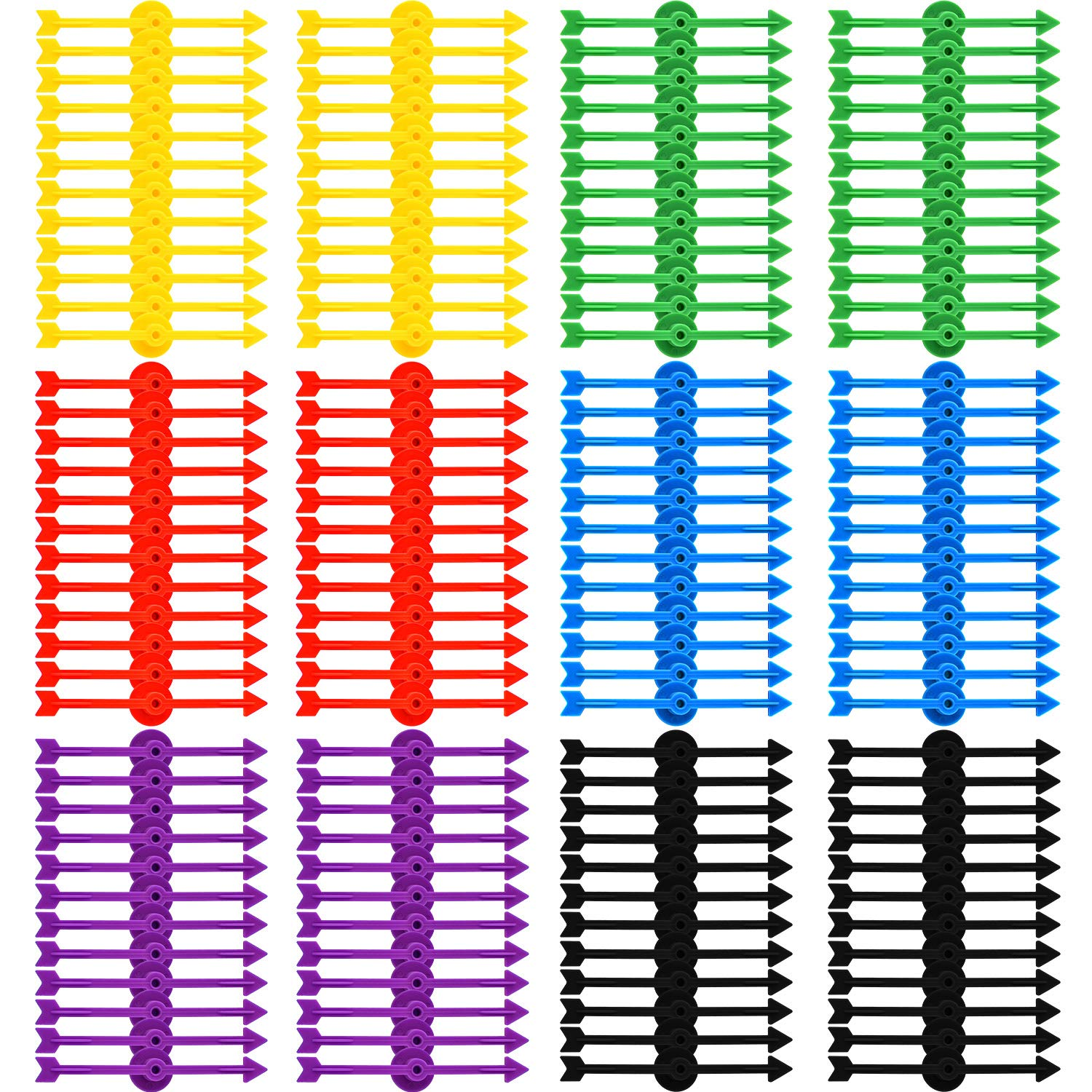 Tatuo 120 Pieces 4 Inch Arrow Spinners Board Game Spinner Plastic Arrow Game Spinners for School Party Supplies, 6 Colors by Tatuo