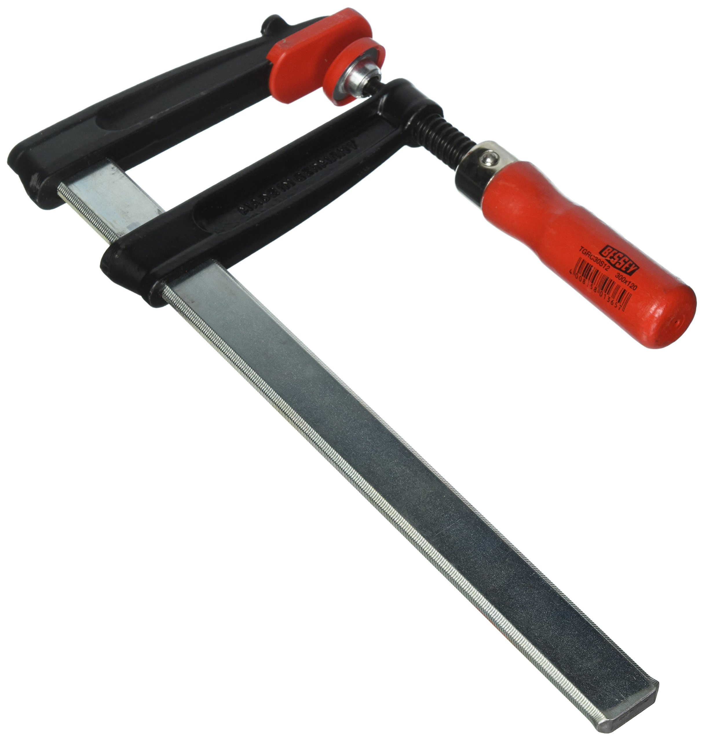 Bessey TGRC30S12 Screw Clamp Tgrc 11.81In/4.72In of Cast-IRON, Black/Red/Silver