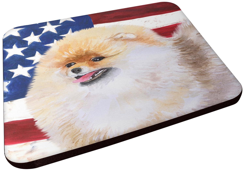 Carolines Treasures BB9682FC Pomeranian Patriotic Decorative coasters Multicolor