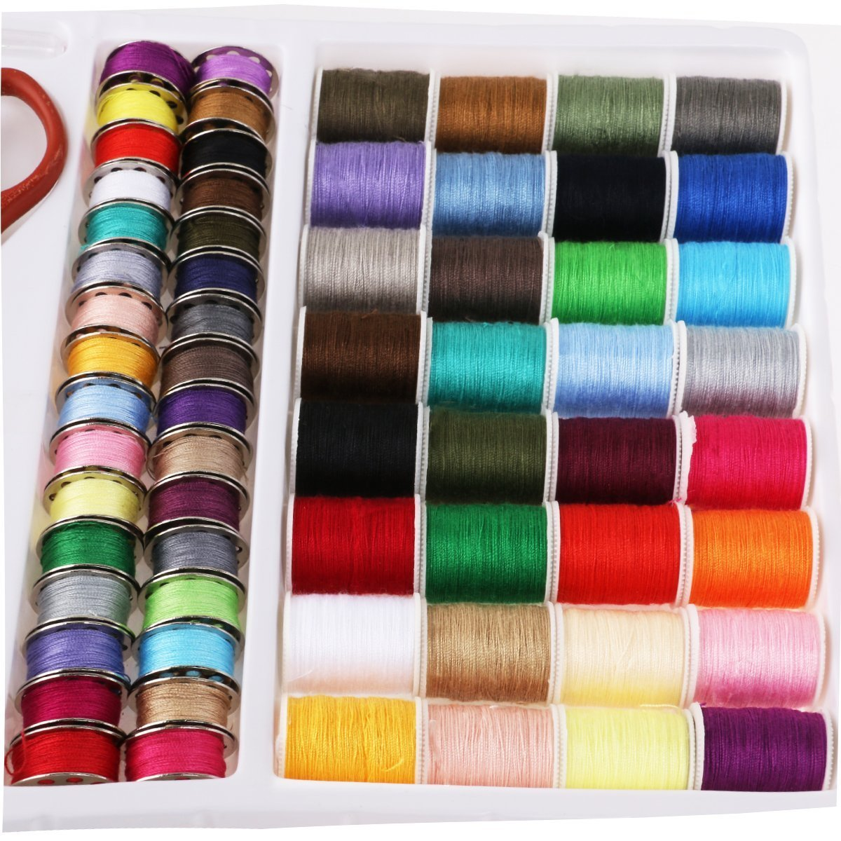 Essential Sewing Tools Kit Needlework Box Set 100-in-1 for Domestic Sewing Machine