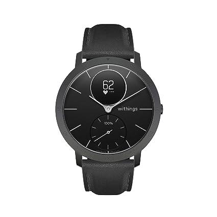 Withings Steel HR Smartwatch – Reloj hibrido inteligente, monitor de actividad y de sueño, GPS, pulso en la muñeca, notificaciones