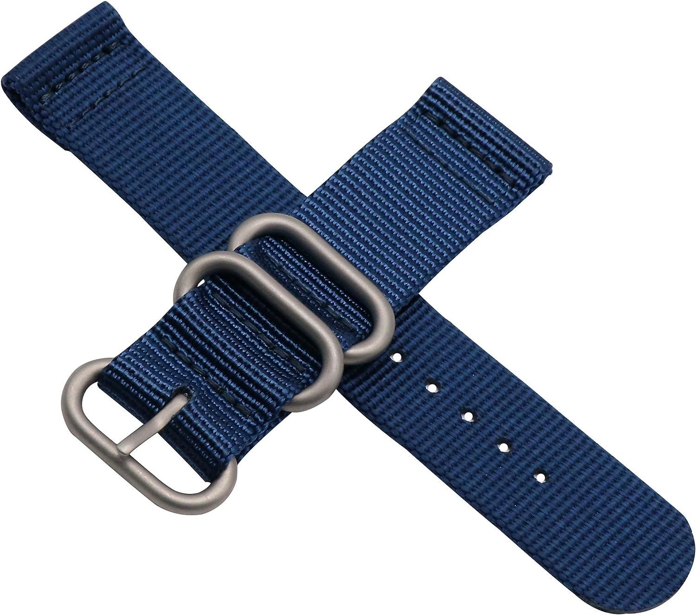 Haute qualité Bleu foncé de Style NATO Montre Nylon balistique Remplacement de la Courroie de Bande pour Les Femmes tressée