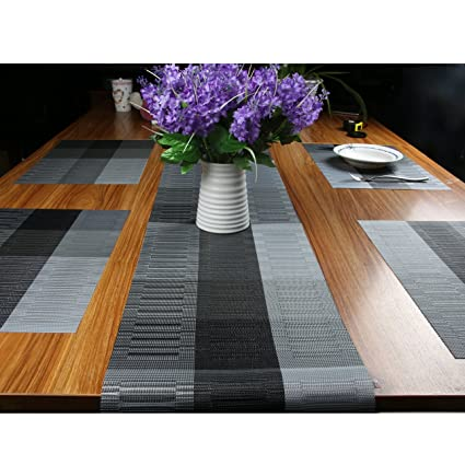 Charmant Famibay PVC Table Place Mats And Table Runner   Heat Insulation PVC  Placemats Stain Resistant