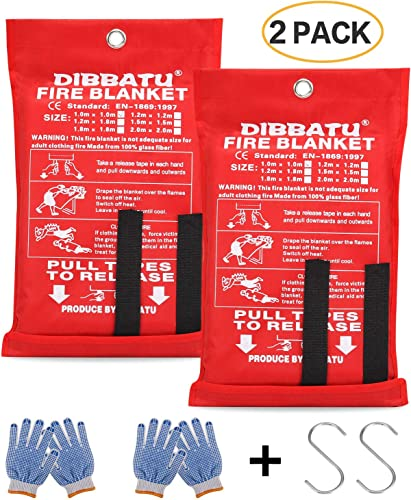 Kitchen Fire Blanket Emergency (Suppression Flame Retardent Safety Blanket) [Dibbatu] Picture