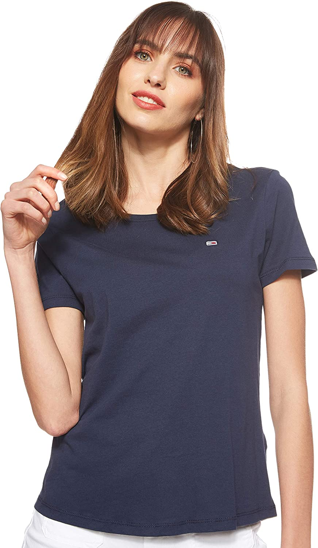 Tommy Hilfiger Soft Jersey Camiseta de Manga Corta para Mujer