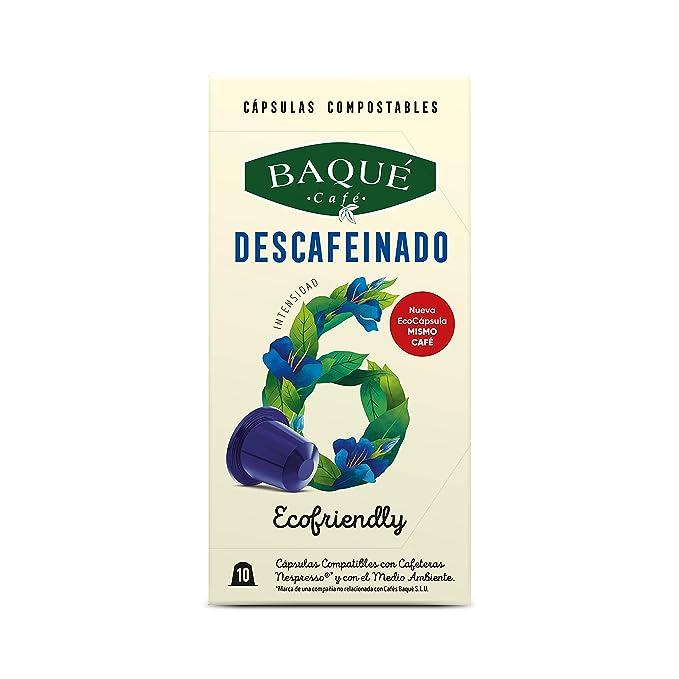 Cafés Baqué 120 Capsulas Compatibles Nespresso Descafeinado ...