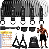 Resistance Bands Set, 150lb/200lb/250lb HPYGN Exercise Resistance Bands with Handles, 5 Tube Fitness Bands with Door…