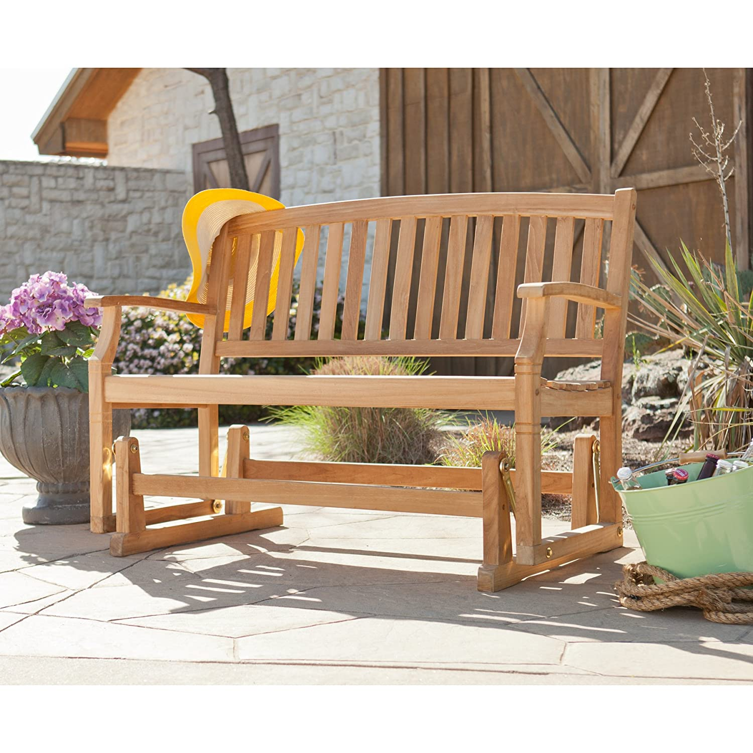 gardens patio homes better outdoor glider com red court clayton walmart ip bench