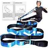 BOB AND BRAD Stretch Strap, 12 Loop Yoga Stretch Strap, Non-Elastic Stretch Strap for Stretching, Physical Therapy, Pilates,