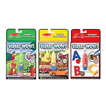 Melissa & Doug On the Go Water Wow! 3-Pack (The Original Reusable Coloring  Books - Vehicles, Animals, Alphabet - Great Gift for Girls and Boys - Best  ...