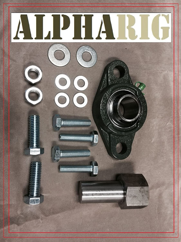 Steering Gear Box Stabilizer Bar Brace Kit w//Hardware for 03-08 Dodge Ram 2500 3500 Pickup Trcuk 4-Wheel Drive