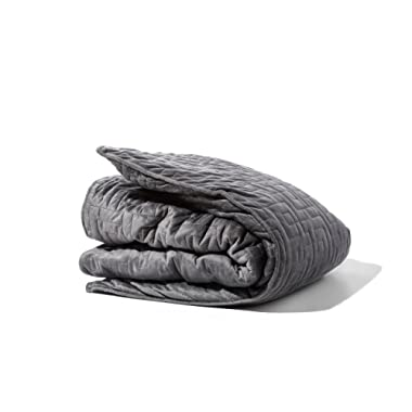 Gravity Blanket: The Weighted Blanket For Sleep, Stress and Anxiety, Space Grey 48  x 72  Size, 25-Pound
