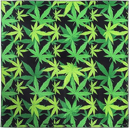 22x22 Bandana Scarf Hankerchief Do Rag Doorag 100/%Cotton Marijuana Cannabis Weed
