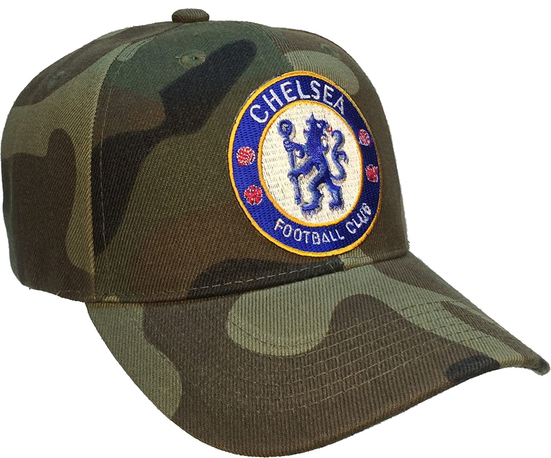 チェルシーFCフットボールクラブサッカーボール帽子カモキャップFootball Club   B00HJCLRLS