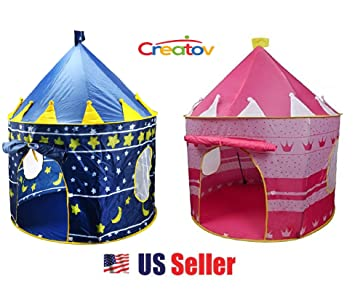 Kids Play Tent for Boys Girls Baby Toddler Playhouse Prince House Indoor Outdoor Blue Foldable Tents  sc 1 st  Amazon.ca & Kids Play Tent for Boys Girls Baby Toddler Playhouse Prince House ...
