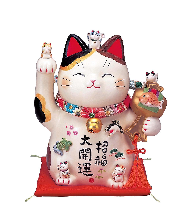 彩絵招福大開運招き猫(ちりめん首輪付8.5号) AM-Y7453 B00TX0GIHC