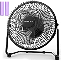 OPOLAR 9 Inch Battery Powered Rechargeable Desk Fan with 6700mAh Capacity, Battery Operated USB Fan with Long Working Time