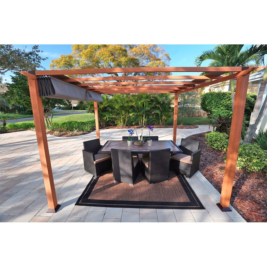 Amazon STC 10 H X 11 W D Pergola Garden Outdoor