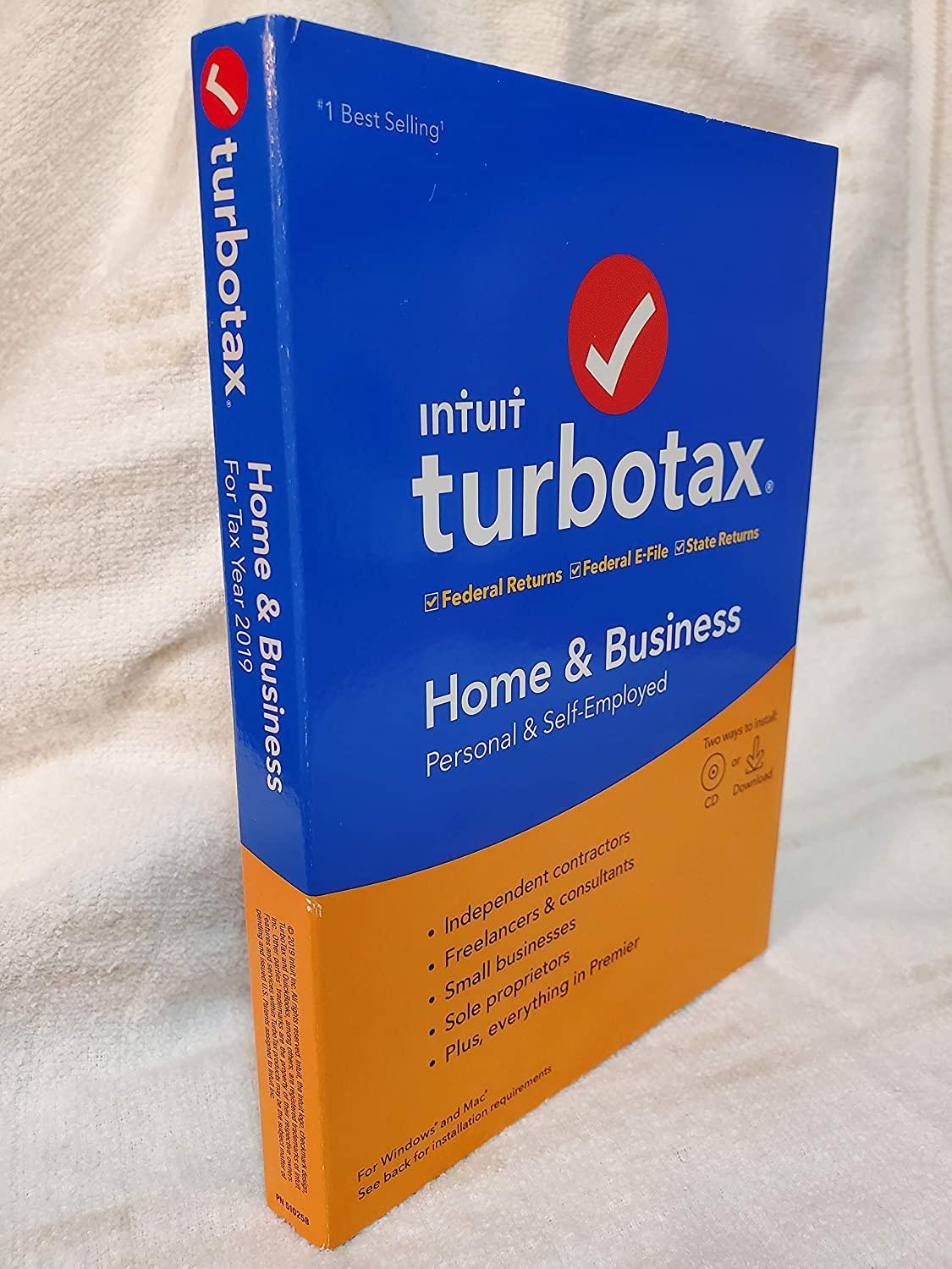 TurboTax 2019 Home & Business Software CD [PC and Mac] [Old Version]