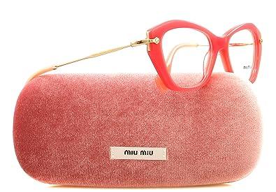 8fa94675659e Miu Miu Eyeglasses VMU 04L Coral PC2-1O1  Amazon.co.uk  Shoes   Bags