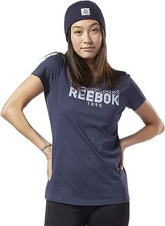 ريبوك تيشيرت رياضي للنساء ، مقاس XS ، لون كحلي