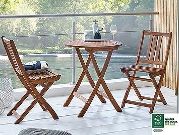 SAM® Conjunto para balcón, 3 piezas, mueble de jardín de ...