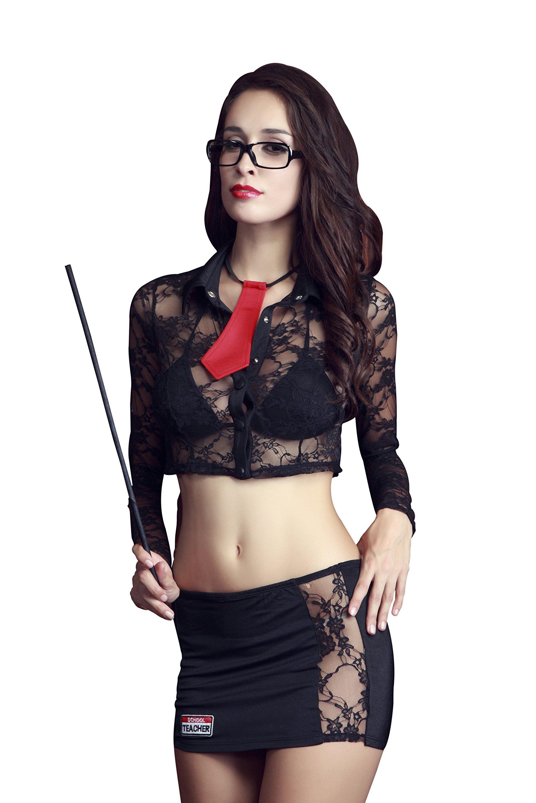 REINDEAR Sexy Business Attire Uniform Complete Set Nightie Racy Lingerie US Seller (Professor)