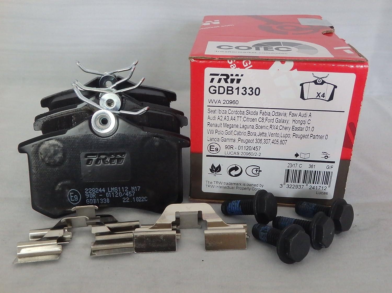 Scheibenbremse TRW GDB1330 Bremsbelagsatz 4-teilig