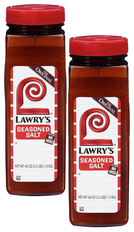 Lawry's Seasoned Salt - 40oz container (2 Pack) : Gourmet Food : Grocery & Gourmet Food
