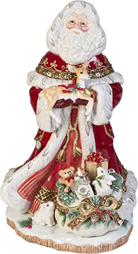 Fitz and Floyd Yuletide Holiday Collectible Figurine, 19-Inch, Muli Colored