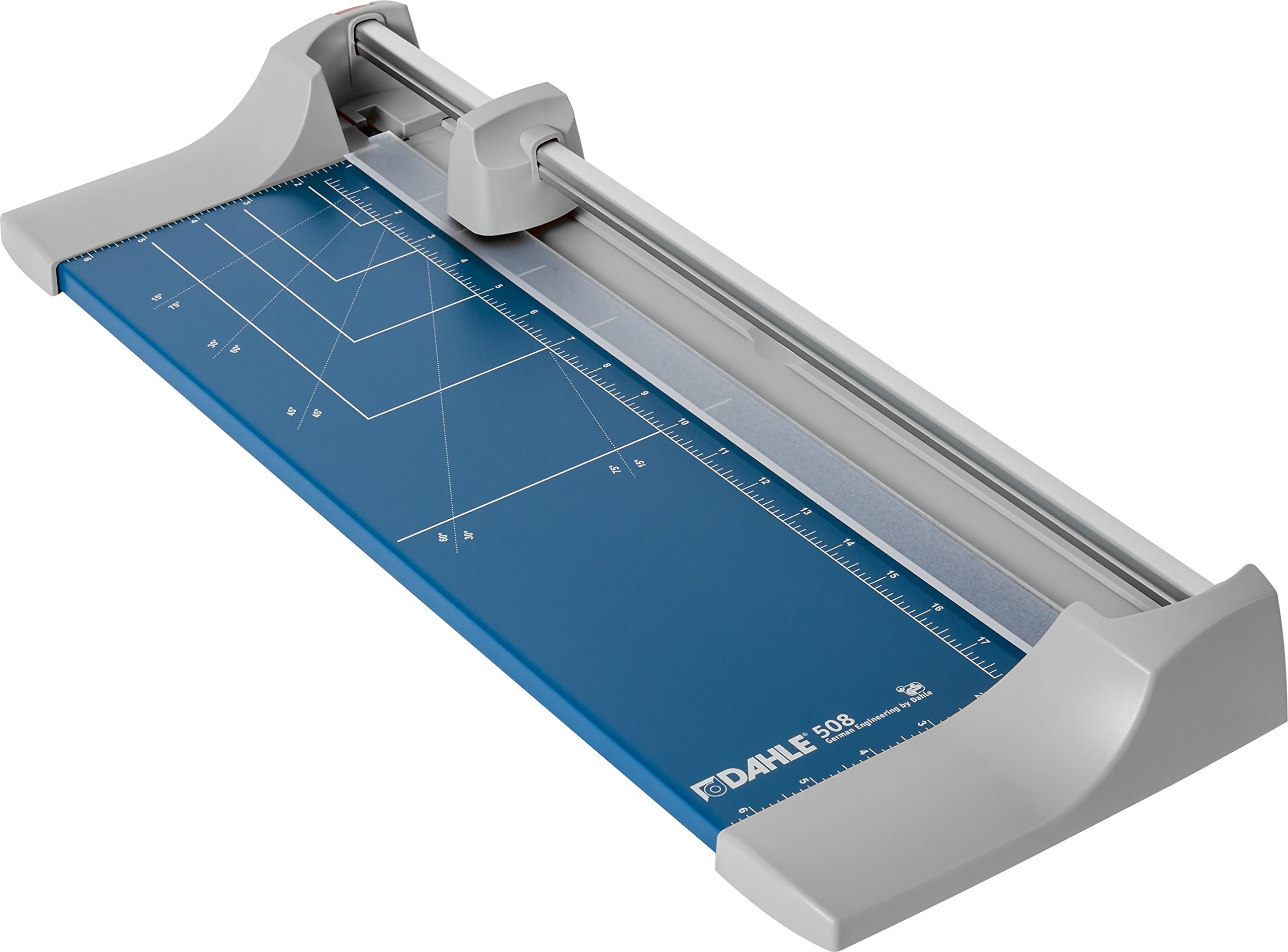 Dahle 508 Personal Rolling Trimmer, 18'' Cut Length, 7 Sheet Capacity, Self-Sharpening, Automatic Clamp, German Engineered Paper Cutter
