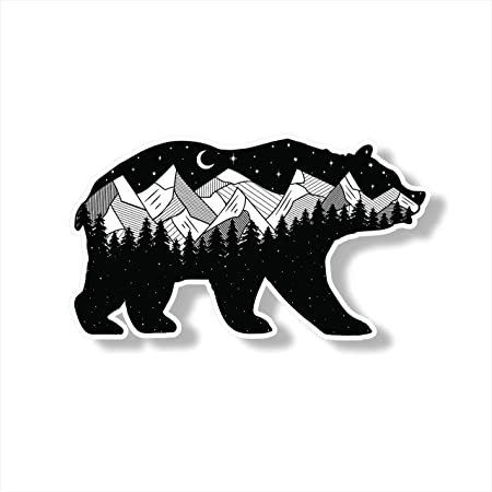 7 inch Tree Sticker for Trunk Rear Byzee Vinyl Mountain Decal Car Emblem Graphic