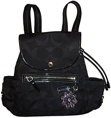 16ed9b9911 Image Unavailable. Image not available for. Color  Women s Coach Purse  Handbag Kyra Nylon Signature Logo Backpack Black