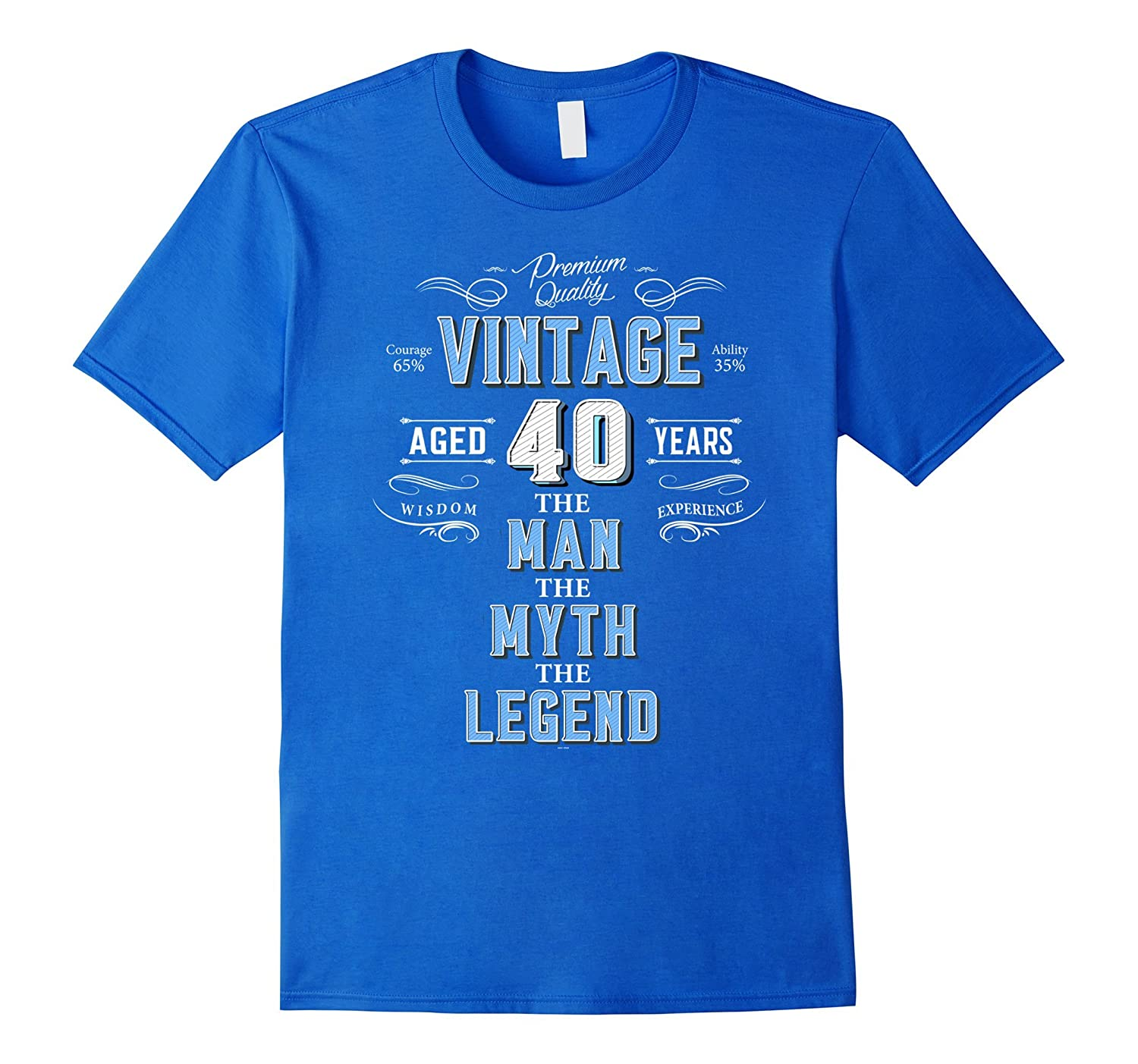Mens Vintage 40th Birthday Tshirt For Men Aged 40 Years Old Tee