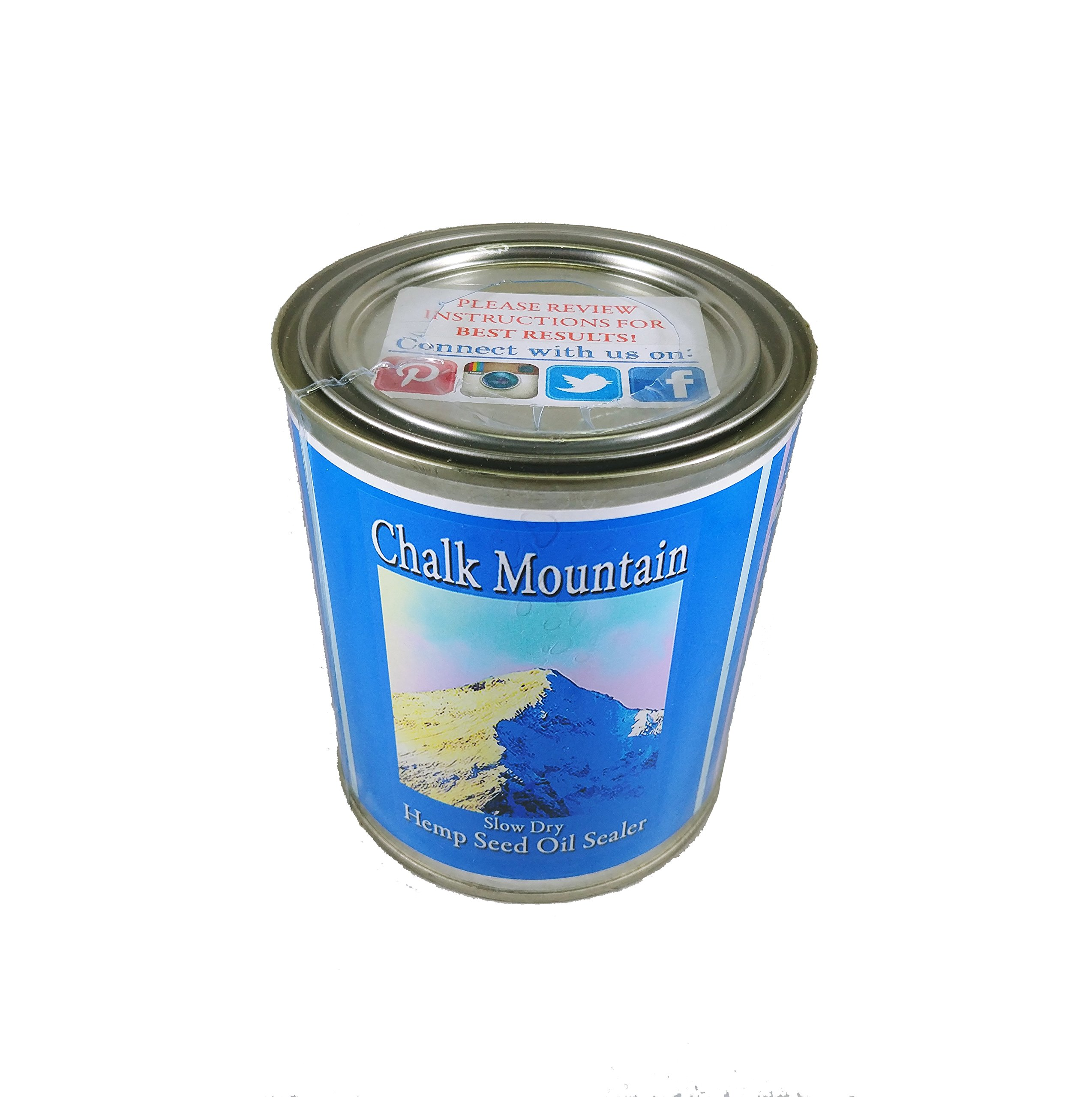 Chalk Mountain Brushes - Hemp Seed Oil Furniture Sealer - Seals and Protects Chalk, and Milk Paint, Furniture, Wood, and much much More! 32oz by Chalk Mountain Brushes