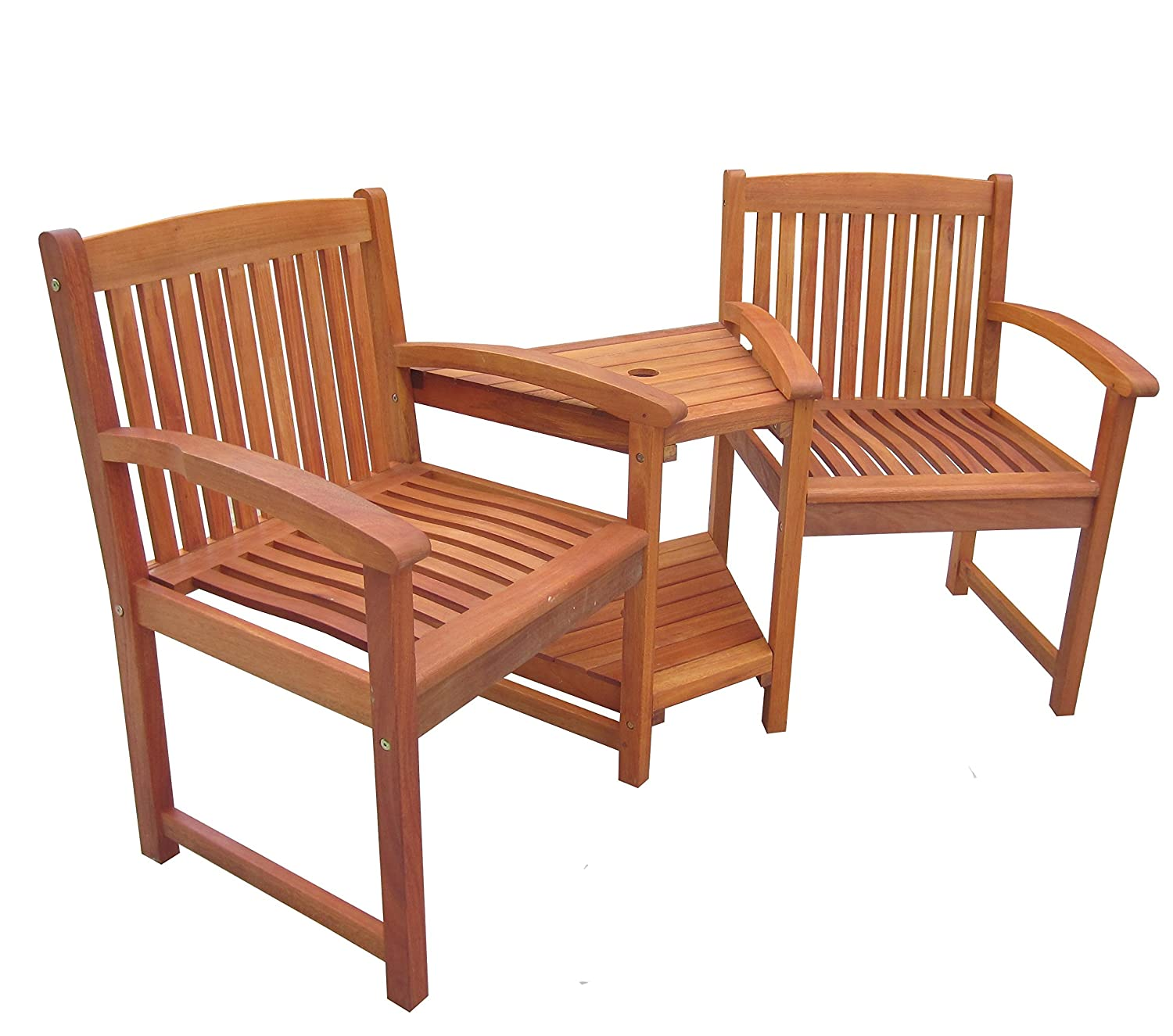 Attractive Charles Bentley Garden Wooden Companion Bench Seat Jack And Jill Love Seat  Outdoor Furniture Patio Set: Amazon.co.uk: Garden U0026 Outdoors