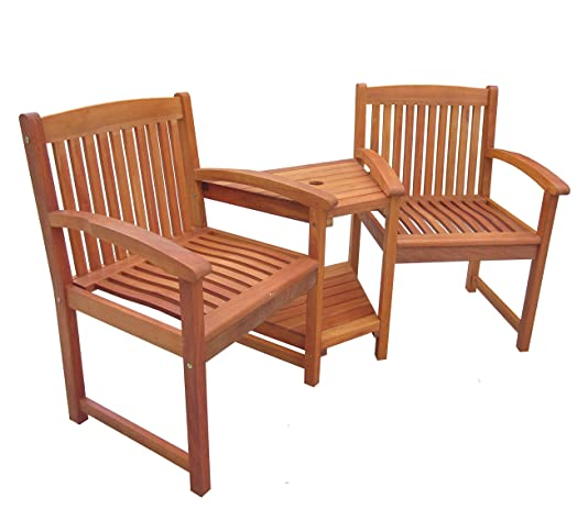 charles bentley garden wooden companion bench seat jack and jill love seat outdoor furniture patio set