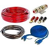 Auto CAR HIFI Verstärker Endstufe Kabel Anschlusskabel KOMPLETTSATZ 10 qmm mit Cinch Kabel #CK-1000#