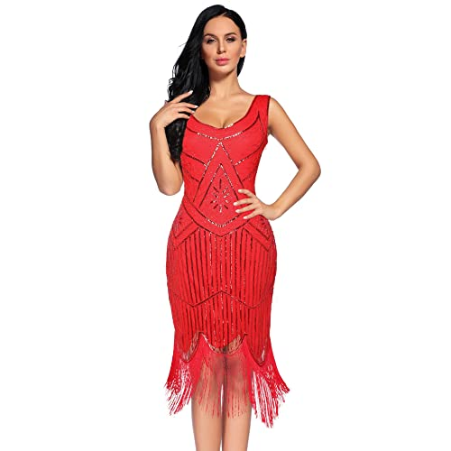 red fringe dress amazon com