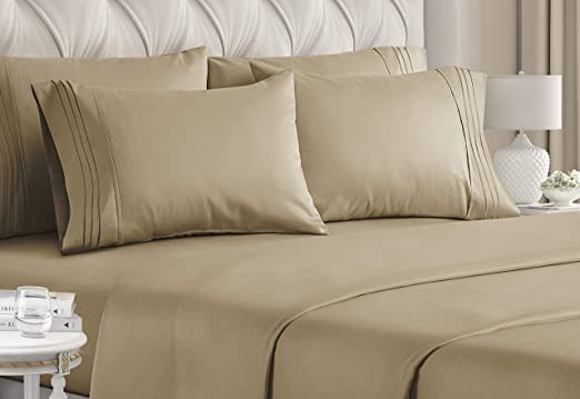 Bamboo Egyptian Comfort Hotel Luxury 6 Piece Soft Deep Pocket Bed Sheet Set