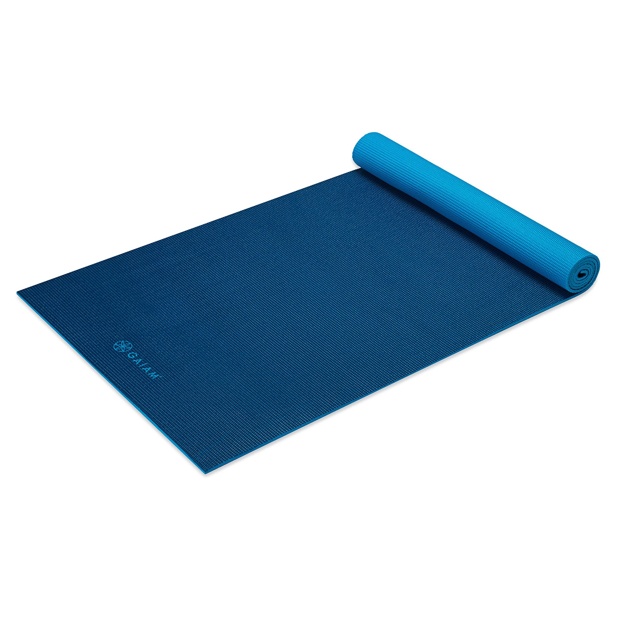 Gaiam Yoga Mat Solid Color Exercise Amp Fitness Mat For