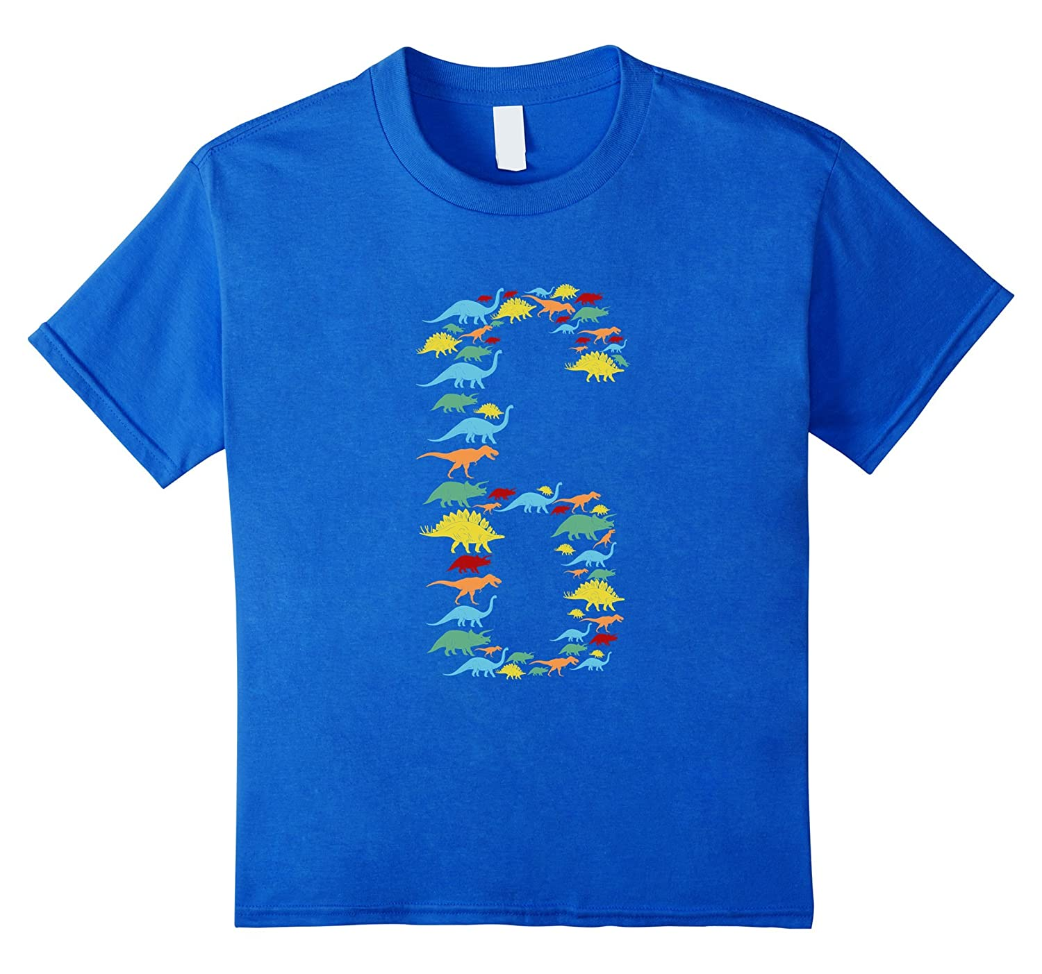 Kids Dinosaur Birthday T Shirt Girls-Awarplus